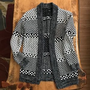 Forever 21 Black/White Cardigan Sweater